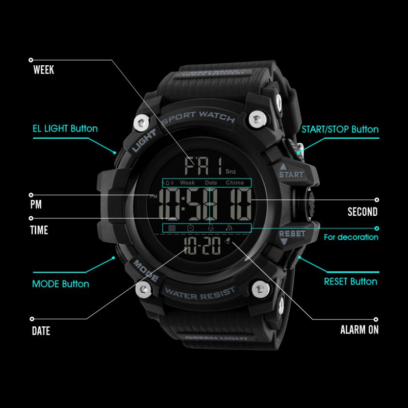 multi-functional digital watch