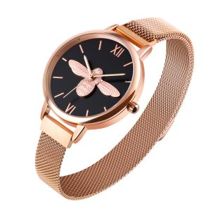 bee design wristwatch for lady
